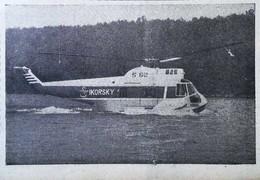 ► AVIATION (1958) Hélicoptère Sikorsky Aircraft Co. Amphibie S-62 - Coupure De Presse (Encart Photo) - Historical Documents