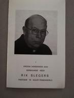 Bidprentje EH Rik Slegers ° Lommel 1917 Overl Hulst Tessenderlo 1987 Kapelaan Koersel Pastoor Niel St Truiden - Todesanzeige