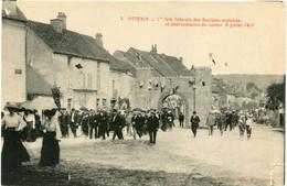VITTEAUX - 1 ère  FÊTE FEDERALE Des SOCIETES SCOLAIRES Et POST SCOLAIRES Du CANTON - 9 JUILLET 1911  - - Altri Comuni