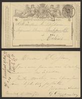 """EP Au Type 5ctm Gris """"carte-correspondance"""" Obl Double Cercle """"Turnhout"""" + Boite Rurale Privée > Malines / Complet ! - Postkaarten [1871-09]"""