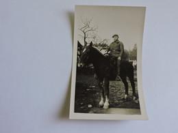 PHOTO - Militaire - Cavalier Format  11,5x7 Cm  B0691 - Guerra, Militari