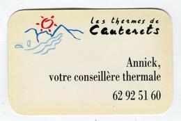 Carte De Visite °_ Carton-Annick Conseillère Thermale-65 Cauterets - Visiting Cards