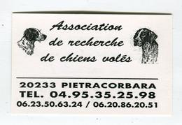 Carte De Visite °_ Carton-Asso Chiens Volés-20 Pietracorbara - Visiting Cards