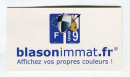 Carte De Visite °_ Carton-Blason Immat.frVos Propres Couleurs-1999 - Visiting Cards