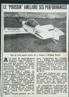"""► AVIATION  (1958) Aérodrome Toulouse R.S.A. Avion Albert Gatard  """"Poussin 2"""" - Coupure De Presse (Encart Photo) - Historical Documents"""