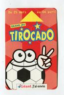 Carte De Visite °_ Carton-Géant-Jeu Tirocado-Mars Avril - Visiting Cards