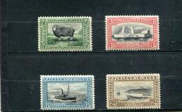 Falkland 1933 Yt 59-62 * - Islas Malvinas