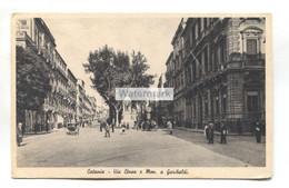 Catania - Via Etnea E. Mon. A Garibaldi - Old Sicily Postcard - Catania