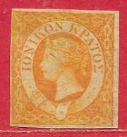Ionniennes (Îles) N°1 (0,5p) Jaune-orange 1859 (*) - Ionische Eilanden