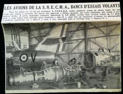 ► AVIATION (1958)  Essai Mystère II  - Usine S.N.E.C.M.A.  ATR   - Coupure De Presse (Encart Photo) - Historical Documents