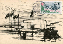 Cartes Maximum .n° 23177 . Debarquement En Normandie. Cachet Arromanches 5 Juin 1976.claude Quiesse . - 1970-79