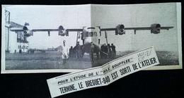 ► AVIATION (1958) Usine De Vélizy - Nouveau Avion Bréguet 940 - Coupure De Presse (Encart Photo) - Historical Documents