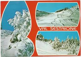 A6184 Abetone (Pistoia) - Val Sestaione - Panorama Vedute Multipla / Viaggiata 1986 - Altre Città