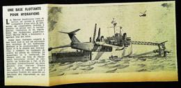 """► AVIATION (1958)  Hydravion à Réaction Martin P6M """"SeaMaster""""  US Navy - Coupure De Presse (Encart Photo) - Historical Documents"""