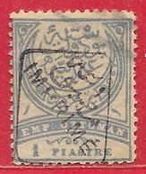 Turquie Journaux N°4 1P Bleu & Gris (surcharge Noire) 1891 O - Gebruikt