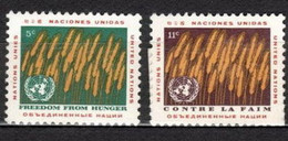 UNO New York 1963 Mi 126-127 Against Hunger NG - Ohne Zuordnung