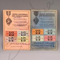 #VP174 - Lot Cartes Union Nationale Des Combattants A. F. N. 1967-1970 / 1971-1990 Cotisation Journal Facultative - Documenten