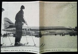 ► AVIATION (1958) Aérodrome D'Helsinki - Avion Caravelle - Coupure De Presse (Encart Photo) - Historical Documents