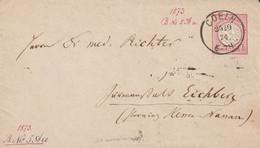 Allemagne Entier Postal Coeln 1874 - Stamped Stationery