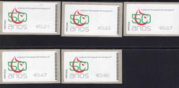 64 Nationale Blutbank (5) ** Postfrisch, MNH, Neuf - Automatenmarken (ATM/Frama)