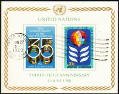 UNO New York 1980 Mi 346B-347B - 35 Years United Nations (UN) - CTO - Gebraucht