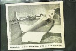 ► AVIATION (1958) Aérodrome D'Alger  - Avion Jodel Wassmer Pelissier D-120 (Algérie) - Coupure De Presse (Encart Photo) - Historical Documents