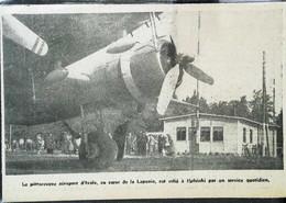 ► AVIATION (1958) Aérodrome D'IVALO Finland  - Avion Pour Helsinki - Coupure De Presse (Encart Photo) - Historical Documents