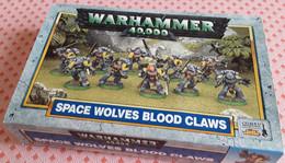 Jeu De Figurines WARHAMMER 40,000 - Boîte Complète Space Wolves Blood Claws (armée De Combattants, Années 80-90) - Autres