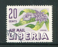 LIBERIA- P.A Y&T N°89- Oblitéré (fleurs) - Liberia