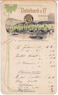 """Speisekarte/Menu """"Deinhard & Co."""" Coblenz, Oestrich, Um 1906 - Menú"""