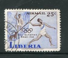 LIBERIA- P.A Y&T N°122- Oblitéré (J.O Rome) - Liberia