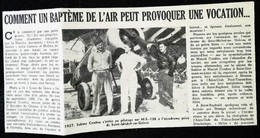 ► AVIATION (1958)  Aerodrome De Saint Michel En Grèves En 1937 - Coupure De Presse (Encart Photo) - Historical Documents