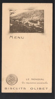Orléans (45 Loiret) Menu BISCUITS OLIBET Avec Vue De Bort Le Orgues (19 Corrèze) (PPP28833A) - Menus