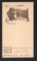 Orléans (45 Loiret) Menu  (vierge) BISCUITS OLIBET Avec Vue De Carrenac (24 Dordogne) (PPP28833B) - Menus