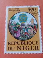 NIGER - République Du Niger - Timbre 1983 : Transports - 200 Ans Du 1er Voyage En Mongolfière - Niger (1960-...)