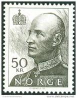 NOORWEGEN 2001 50kr Koning Herald Tanding 13¼x13¾ PF-MNH-NEUF - Unused Stamps