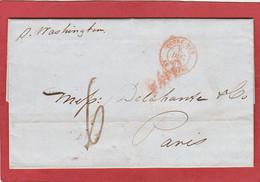 """LAC - New-York à Paris Par Steamer """"Washington"""" CàD """"OUTRE-MER LE HAVRE"""" 08/12/1847 - Maritime Post"""
