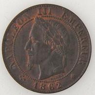 France, Napoléon III, 1 Centime 1862 BB, TTB/TTB, KM# 795.2 - A. 1 Centime