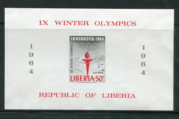 LIBERIA- B.F Y&T N°28- Neuf Avec Charnière * (J.O Innsbruck) - Liberia
