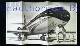 ► AVIATION (1958)  Toulouse Sud Aviation - Publicité Caravelle   - Coupure De Presse (Encart Photo) - Historical Documents