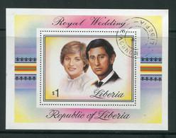 LIBERIA- B.F Y&T N°97- Oblitéré (Lady Diana Spencer) - Liberia