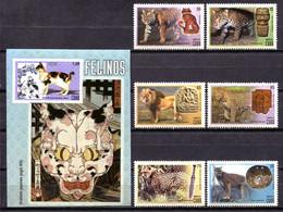 Cuba 2015 / Big Cats MNH Felinos Gatos Säugetiere Katzen Felines / Hz35  36-27 - Raubkatzen