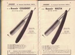 OUTILLAGE SELECTIONNE POUR COIFFEURS COUDERT PARIS RASOIR COUPE-CHOUX TONDEUSE CISEAUX PEINE LAME RASOIR CANIFS ONGLIERS - Lamette Da Barba