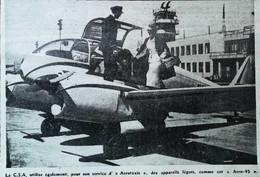 "► AVIATION (1958)  Aérodrome De Prague - AeroTaxi Praha CSA  ""Aero-45"" - Coupure De Presse (Encart Photo) - Historical Documents"