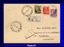 1965 Italy Italia Intero Sir £25 Vg In Raccomandata Siena X Torrenieri Registered Stationery Card - Stamped Stationery
