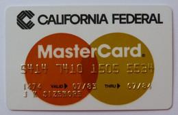 USA - Credit Card - MasterCard - California Federal - Exp 07/84 - Used - Carte Di Credito (scadenza Min. 10 Anni)
