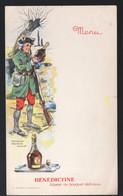 Menu (vierge) Offert Par La  BENEDICTINE (militaria) (PPP28840) - Menus