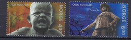 Norwegen 2000, Nr. 1342-1344, 1000 Jahre Stadt Oslo. Gestempelt, Used - Used Stamps