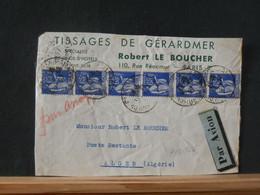 A13/742 DEVANT DE  LETTRE FRANCE 1937 POUR ALGER - 1932-39 Peace