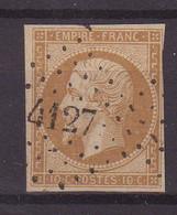 """FRANCE : PC 4127 . """" LA CHAUX NEUVE """" . (24) . N° 13 . ( CATALOGUE MATHIEU ) . - 1849-1876: Période Classique"""